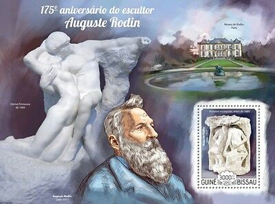 Guinea Bissau 2015 Auguste Rodin France French Art S/S / FDC / IMPERF GB15118