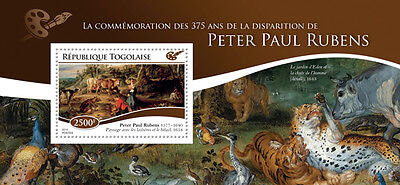 Togo 2015 Peter Paul Rubens 375th Aniv Paintings Painter S/S / FDC / IMPERF 115