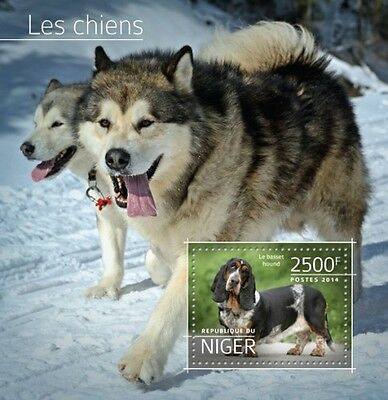 Niger 2014 Dogs Animals S/S / FDC / IMPERF NIG14514