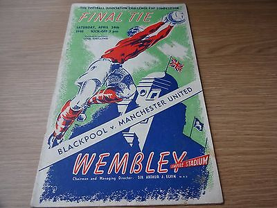 1948 FA Cup Final  -  Manchester United  v  Blackpool
