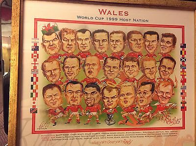 Wales 1999 Rugby World Cup Ruglys Framed Print