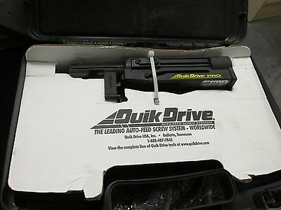 NEW quick drive pro auto feed screwdriving tool in case
