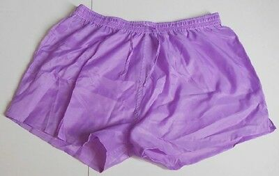 Short polyamide lilas taille L, lightly see-through