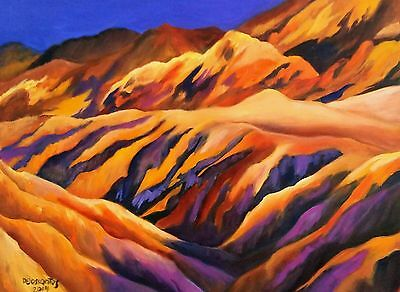 ZABRISKIE POINT  OIL ON CANVAS 18X24 inches, original painting  AWESOME !SALE!
