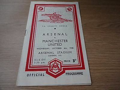 1948 Charity Shield  -  Manchester United  v  Arsenal