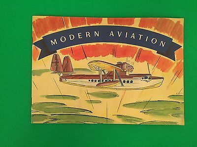 Modern Aviation Book Album Heinz 1930's With All Plane Stickers Complete Nice!