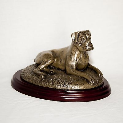 BOXER Bronze Figurine. Hand made in England. Ideal gift.