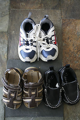 3 Pairs Of Boys Baby And Toddler Shoes