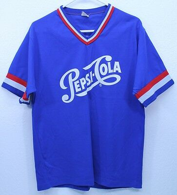 Vintage PEPSI COLA BASEBALL JERSEY Don Alleson NY Mens M - L GUC USA 60s 70s