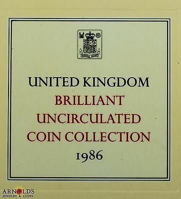 United Kingdom Brilliant Uncirculated 1986 Mint Set -of 8 Coins