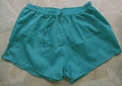 short polyamide turquoise taille XL, lightly see-through