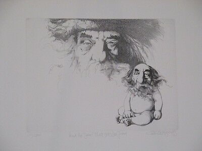 Fantastic Limited Edition Art Etching by the Satirical Artist Charles Bragg!