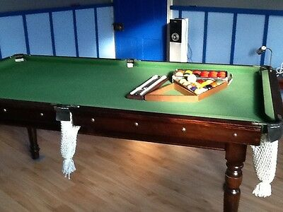 1/4 size (6'x3') slate bed snooker table RELISTED