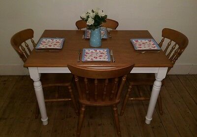 Dining Kitchen Table and 4 chairs Shabby Chic