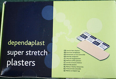 Super Stretch Plasters - Box of 100 Assorted Plasters - Dependant