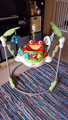 Fisher Price Rainforest Jumperoo Baby Bouncer- Great Condition