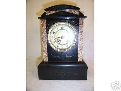 Victorian Marble And Slate Chiming Mantle Clock
