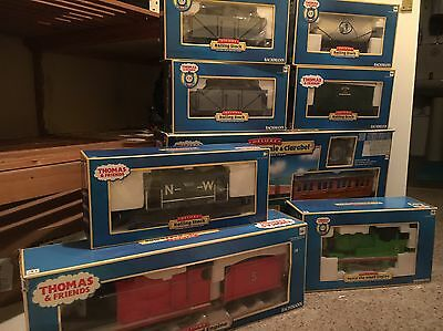 Bachmann G Scale Thomas, Annie & Clarabel Set, James, Percy and Various Trucks