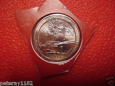 2013 D Ft Mc Henry ( Maryland Quarter) Uncirculated ( In Mint Cello) 3517