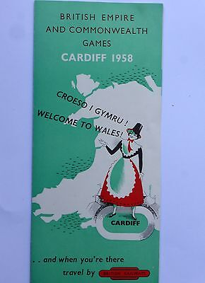 "British Railways Leaflet  ""british Empire And Commonwealth Games Cardiff 1958"