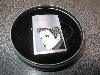 Collectible Elvis Presley Zippo lighter with tin case
