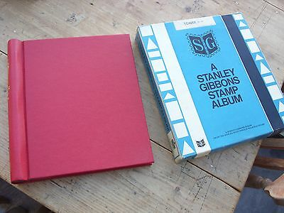 Vintage Red Stanley Gibbons Tower Stamp Album New Boxed & Unused