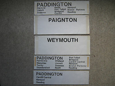 B.R. window / carriage labels.