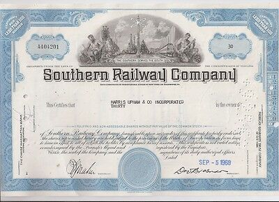 Southern Railway Company.......1968 Stock Certificate