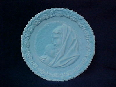 Fenton Mother's Day Plate 1971 with stand