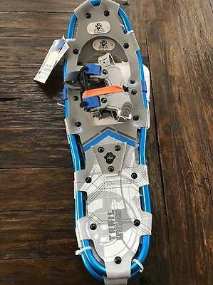 "NEW YUKON CHARLIE'S 825 8x25"" Trail Series SNOWSHOES Blue Gray Aluminum"