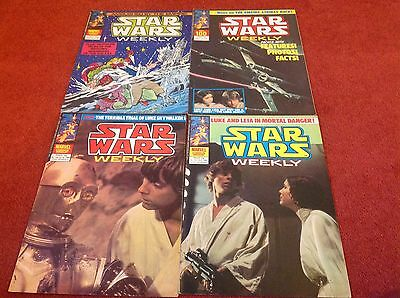 Star wars weekly 1980 uk marvel comics x4.including Issue 100