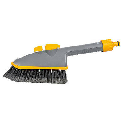 Hozelock Short Car Wash Brush Plus with Jet Spray for Hose Pipes