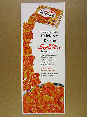 1964 Sophie Mae Peanut Brittle candy box photo vintage print Ad