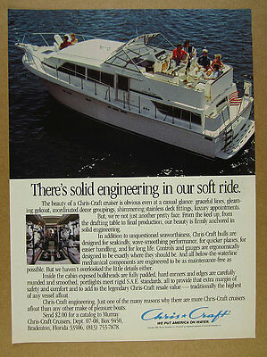 1986 Chris-Craft Cruiser Yacht boat color photo vintage print Ad