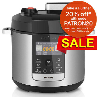 Philips HD2178 6L Electric Digital Automatic Non-stick Fast/Slow Pressure Cooker