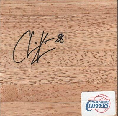 Chris Kaman Autographed 6x6' Basketball Wood Floorboard Trail Blazers / Clippers