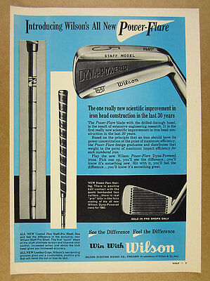 1960 Wilson STAFF MODEL Dyna-Powered Golf Clubs Irons vintage print Ad