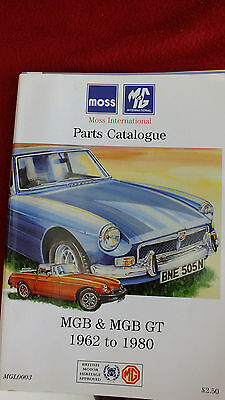 MGB & MGB GT Moss Part And Accessories,  Catalogues 1962-1980