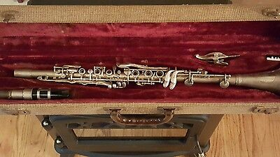 Vintage Regent Ohio Band Silver Clarinet with Mouthpiece and Case