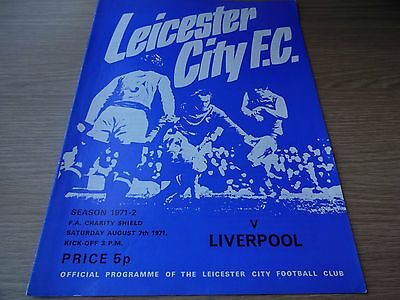 1971 Charity Shield - Leicester City  v  Liverpool