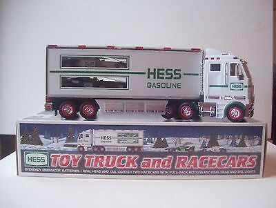 Hess Gasoline Truck and Racecars 2003 New