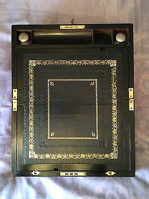 Victorian Writing Slope with Secret Drawers and Working Lock & key