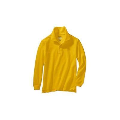 School Uniforms-Boys Long Sleeve Polo, Sungold, Size: LARGE 10-12 George
