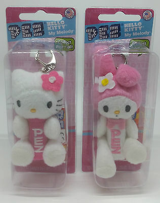 Pez Plush Hello Kitty and My Melody Candy Dispenser - NEW