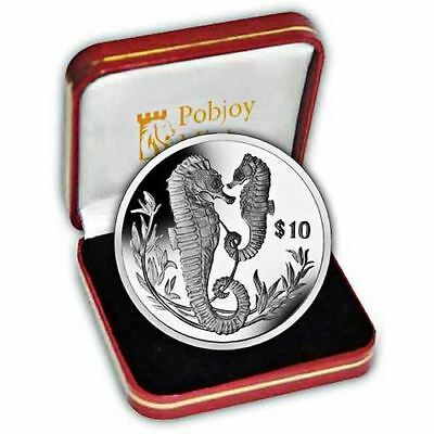 2017 SEAHORSE $10 British Virgin Islands Sterling SILVER Proof Coin