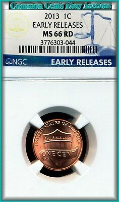 2013 Shield Penny NGC Special EARLY RELEASE MS-66 Full RED   Special Buy $7.00