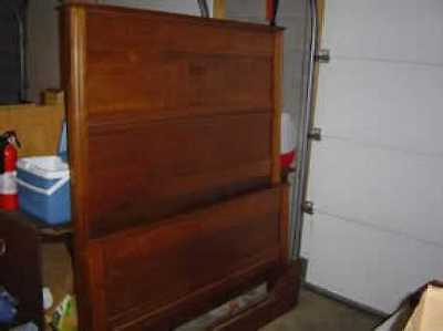 Antique Walnut Panel Bed