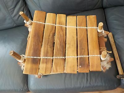 Handmade Wooden Xylophne African Collectable Musical Instrument Vintage Looking