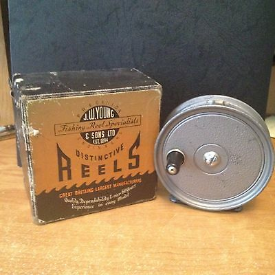 """J.W. Young ---  Condex 3 1/2 """" Vintage Fly Reel with Box"""