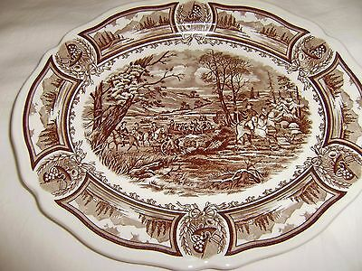 J.G. MEAKIN Americana Ironstone Platter 10  by 12 Inches  MINT